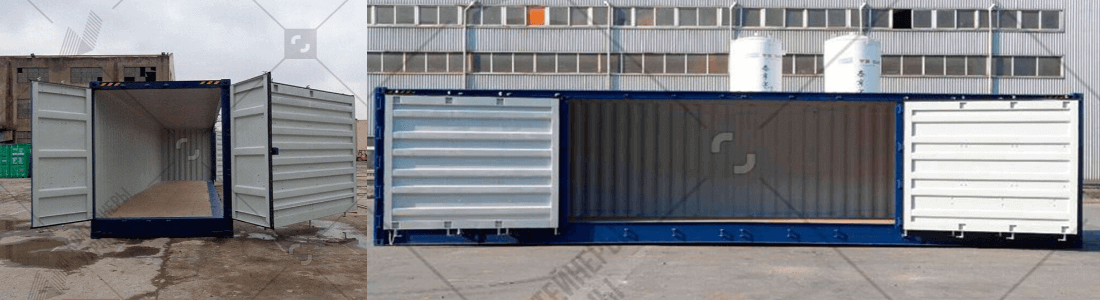 40-ка футовый контейнер с боковыми дверями
